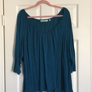 Sejour from Nordstrom's turquoise scoop top